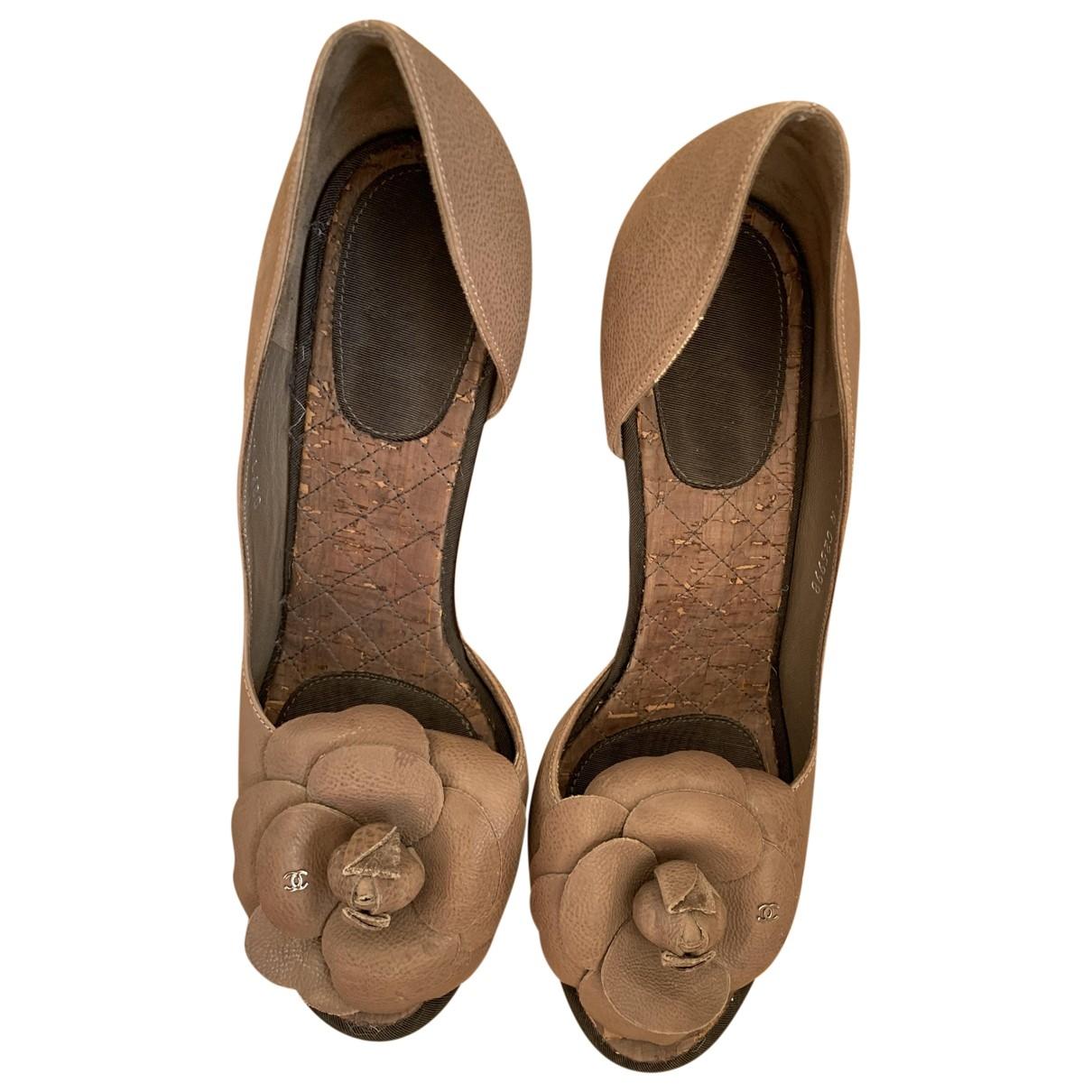 Chanel \N Brown Leather Heels for Women 39 IT