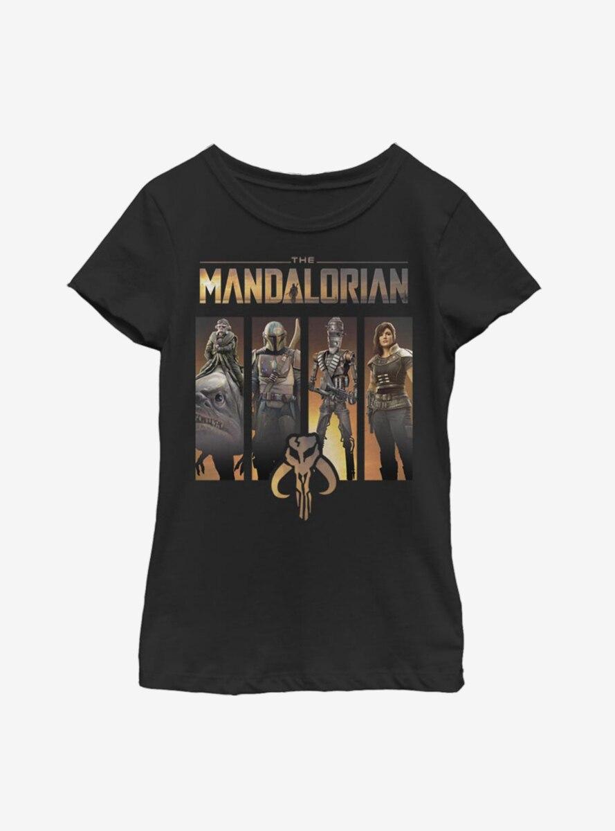 Star Wars The Mandalorian Boba Box Up Youth Girls T-Shirt