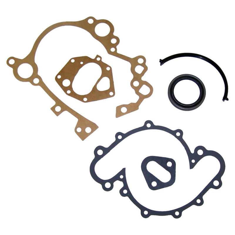 Crown Automotive J8129098 Jeep Replacement Timing Cover Gasket Kit for Select 71-91 Jeep CJs, C101, SJ, J-Series w/ V8 Eng. Jeep