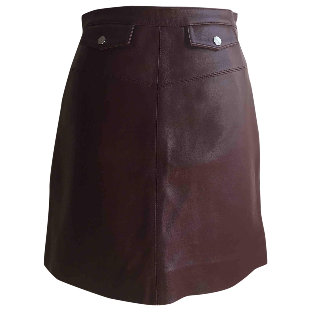 Comptoir Des Cotonniers \N Burgundy Leather skirt for Women 38 FR