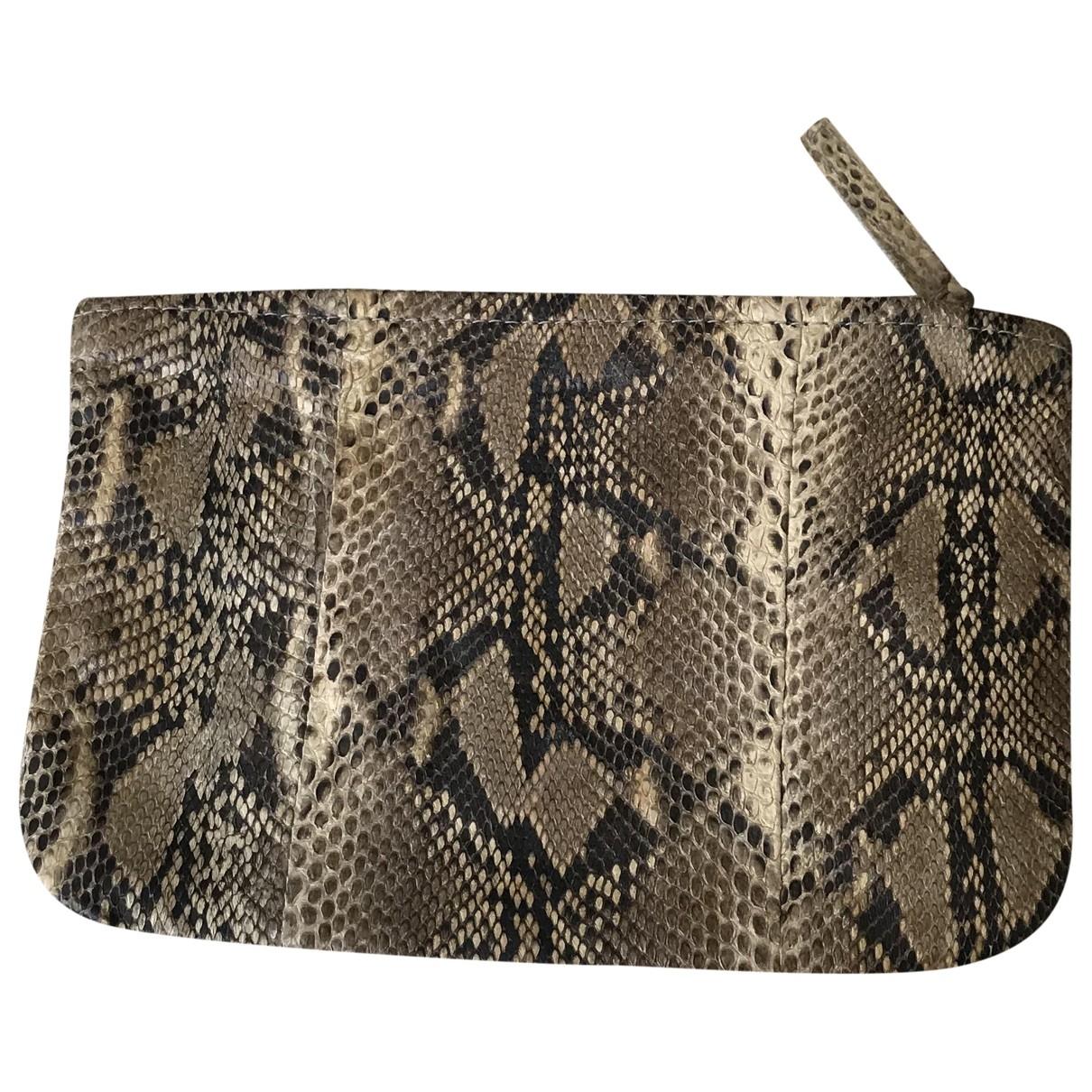 Maje \N Beige Leather Purses, wallet & cases for Women \N