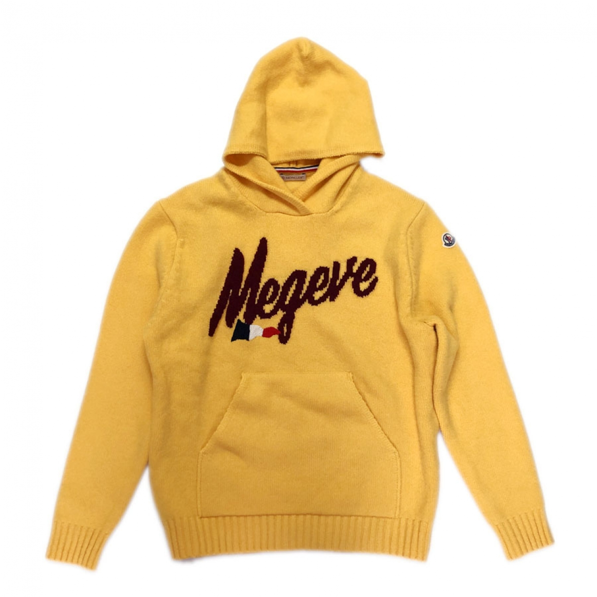 Moncler \N Pullover.Westen.Sweatshirts  in  Gelb Wolle