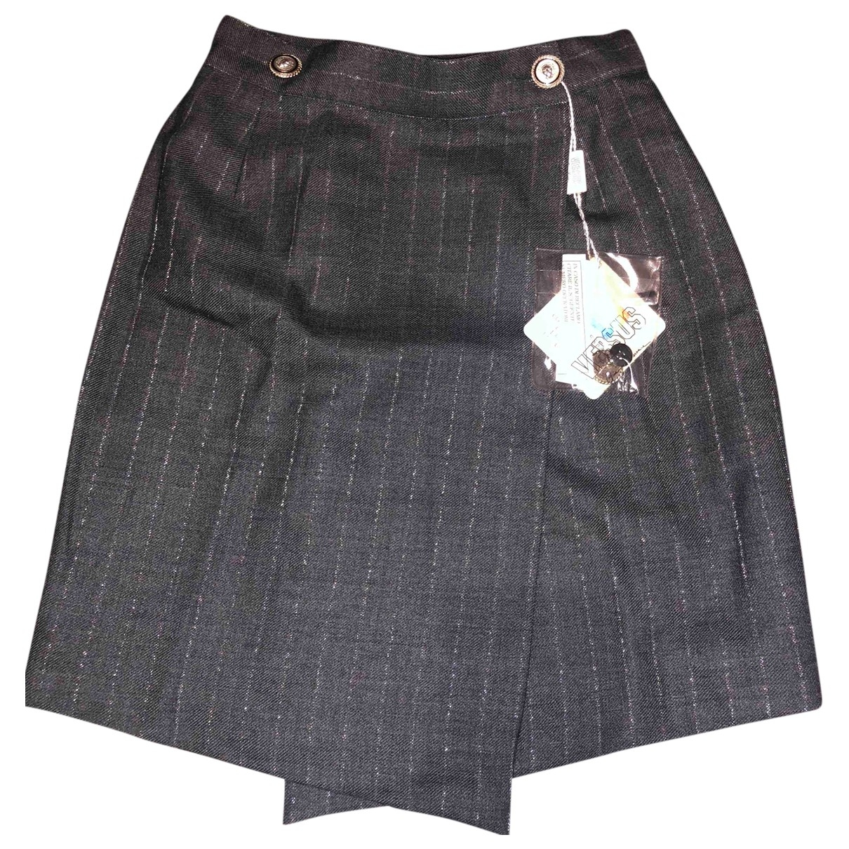Versus \N Grey Wool skirt for Women 38 IT