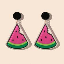 Watermelon Charm Drop Earrings