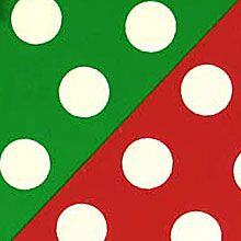#b5459 Christmas Polka Dot (Rever) - Gift Wrap - 24 X 100' - - Gift Wrapping Paper by Paper Mart