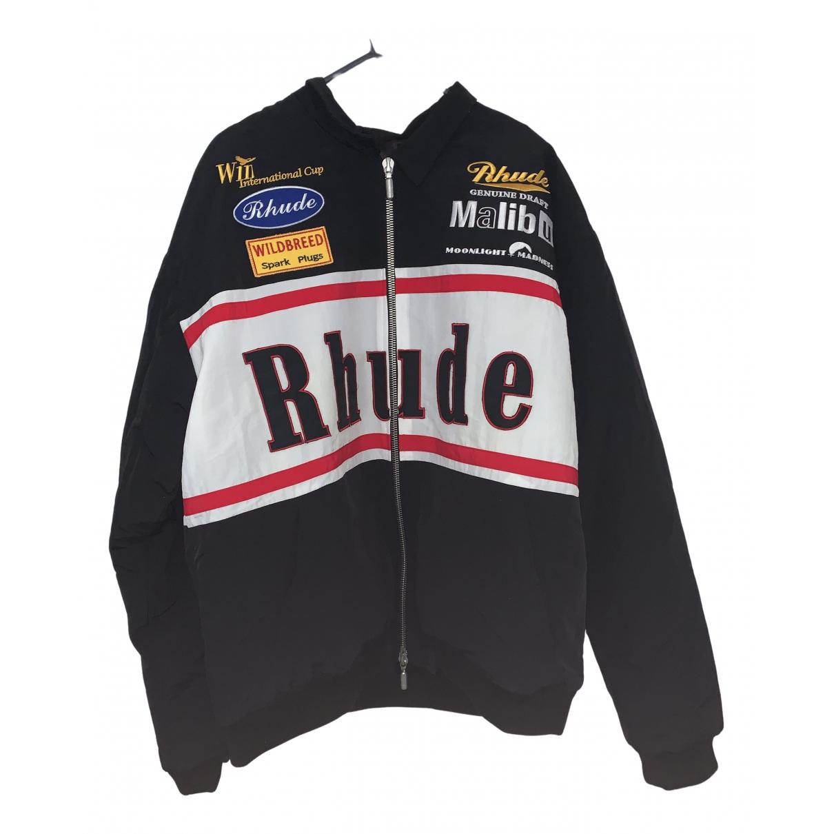 Rhude N Black Cotton jacket  for Men XL International