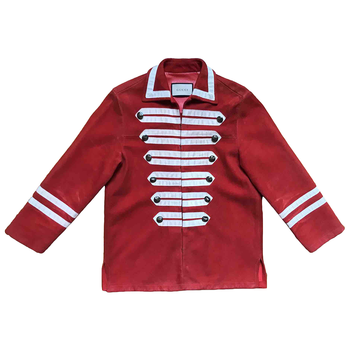 Gucci \N Jacke in  Rot Leder