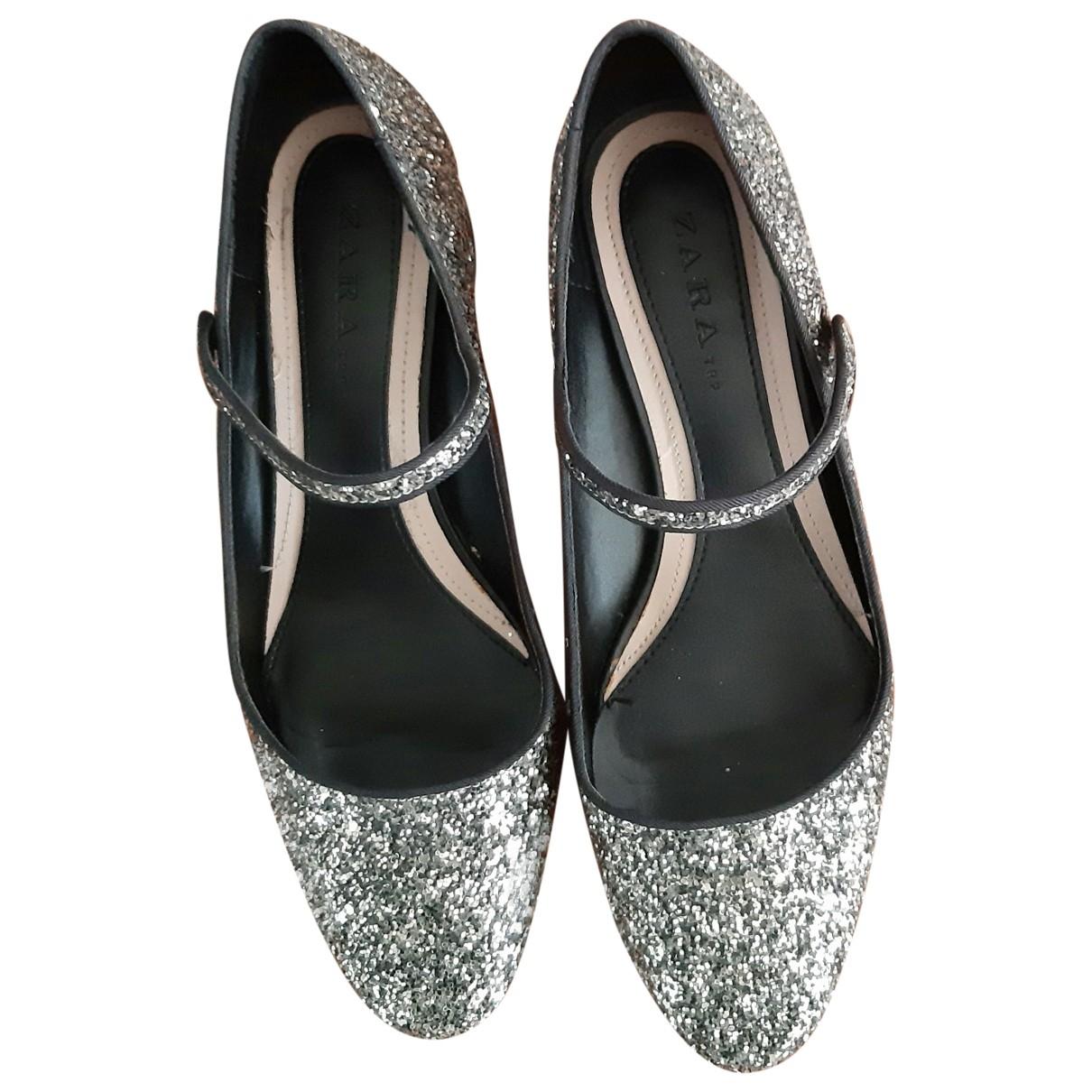 Zara - Escarpins   pour femme en a paillettes - dore