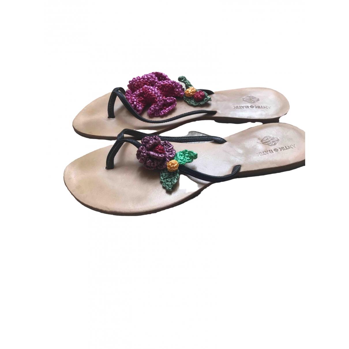 Antik Batik \N Sandalen in  Braun Leder