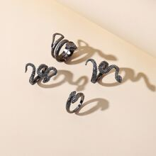 4pcs Serpentine Design Ring