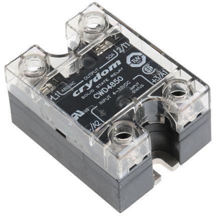 Sensata / Crydom 50 A rms Solid State Relay, Zero Cross, Panel Mount, SCR, 660 V Maximum Load