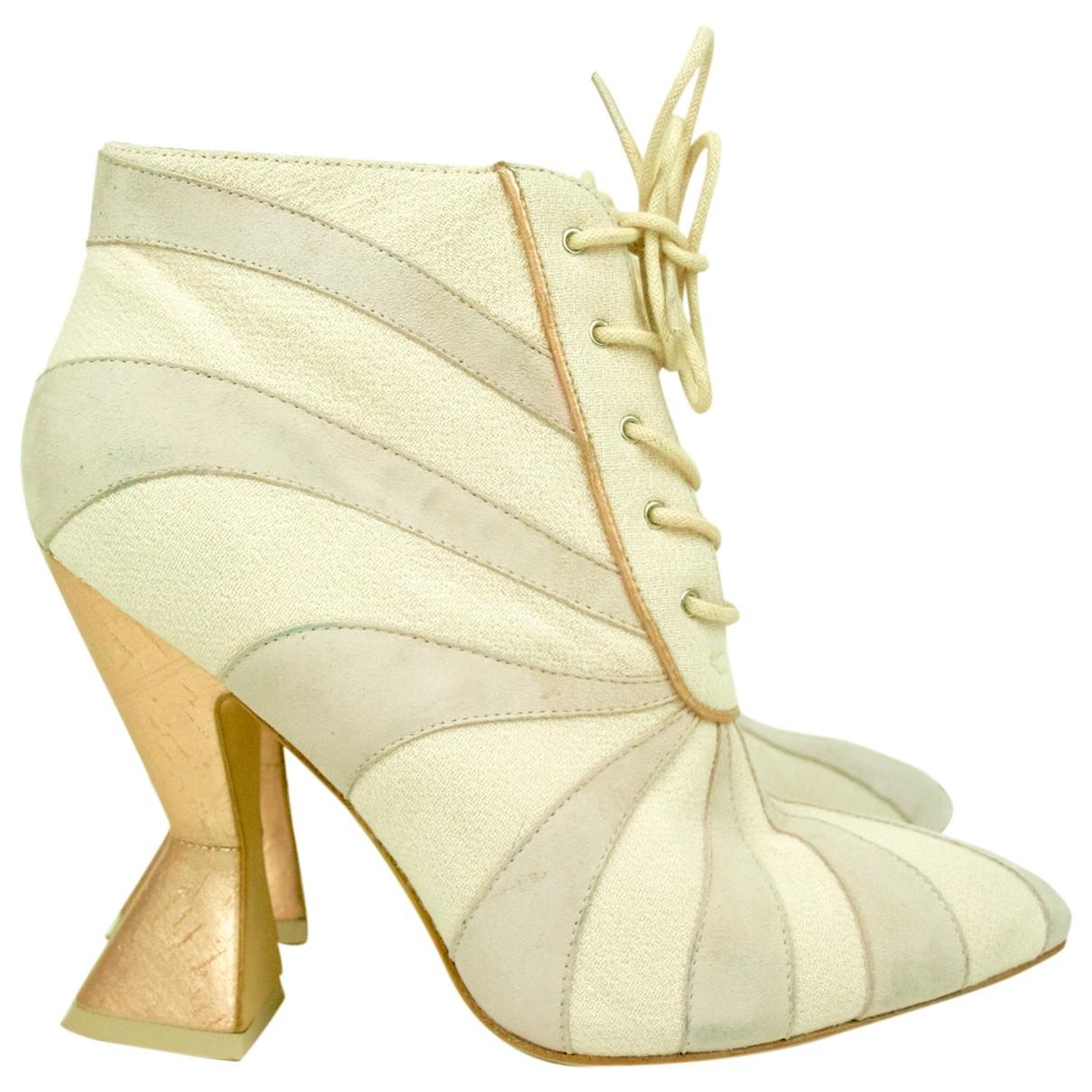 Roksanda \N Pink Cloth Heels for Women 39 EU