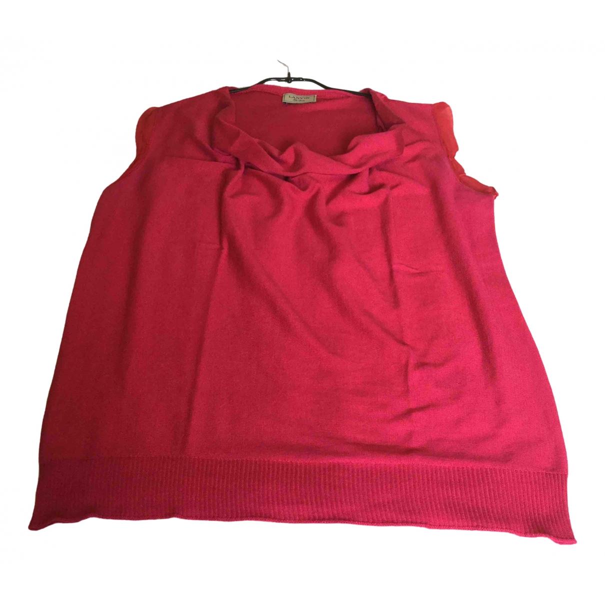 Lanvin \N Red Cotton  top for Women XL International