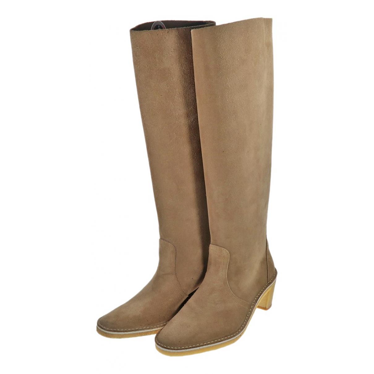 Pierre Hardy N Beige Suede Boots for Women 35 EU