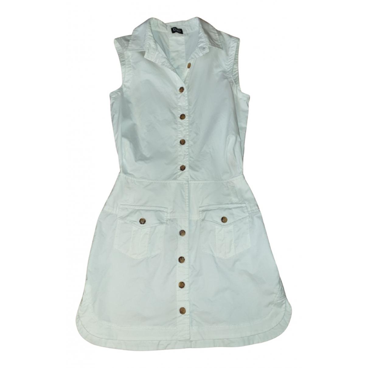 D&g N White Cotton - elasthane dress for Women 40 IT