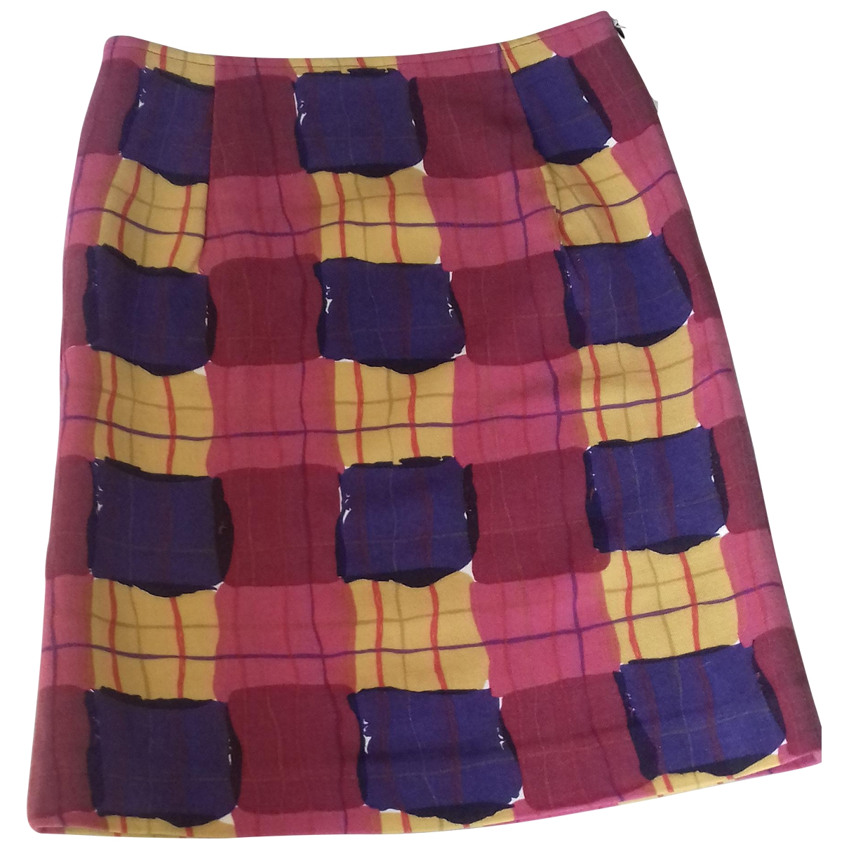Marni \N Multicolour Wool skirt for Women 44 IT