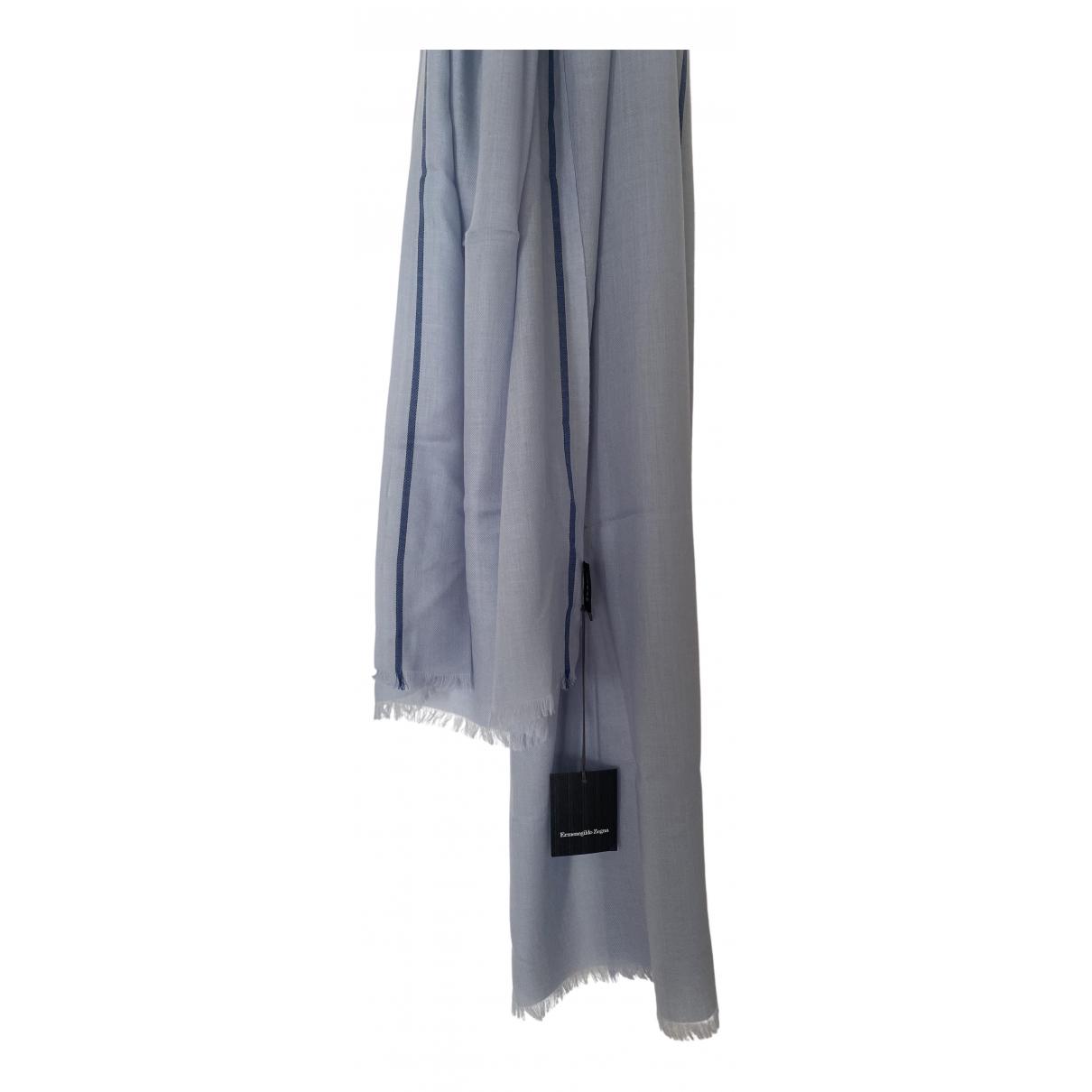 Ermenegildo Zegna \N Blue Wool scarf & pocket squares for Men \N