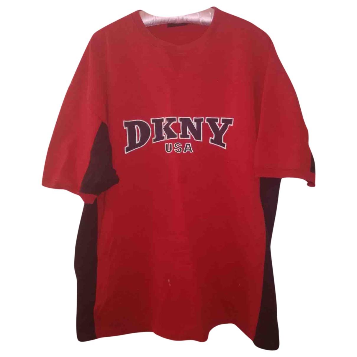 Dkny - Robe   pour femme en coton - rouge
