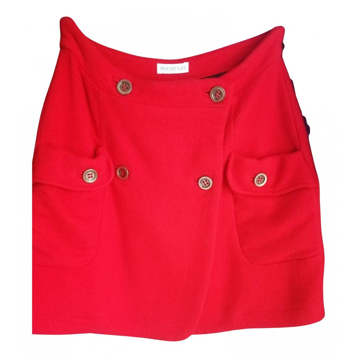 Whistles N Orange Wool skirt for Women 12 UK