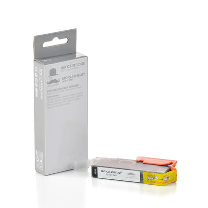 Canon CLI-251XLGY 6452B001 Compatible Grey Ink Cartridge - Moustache®
