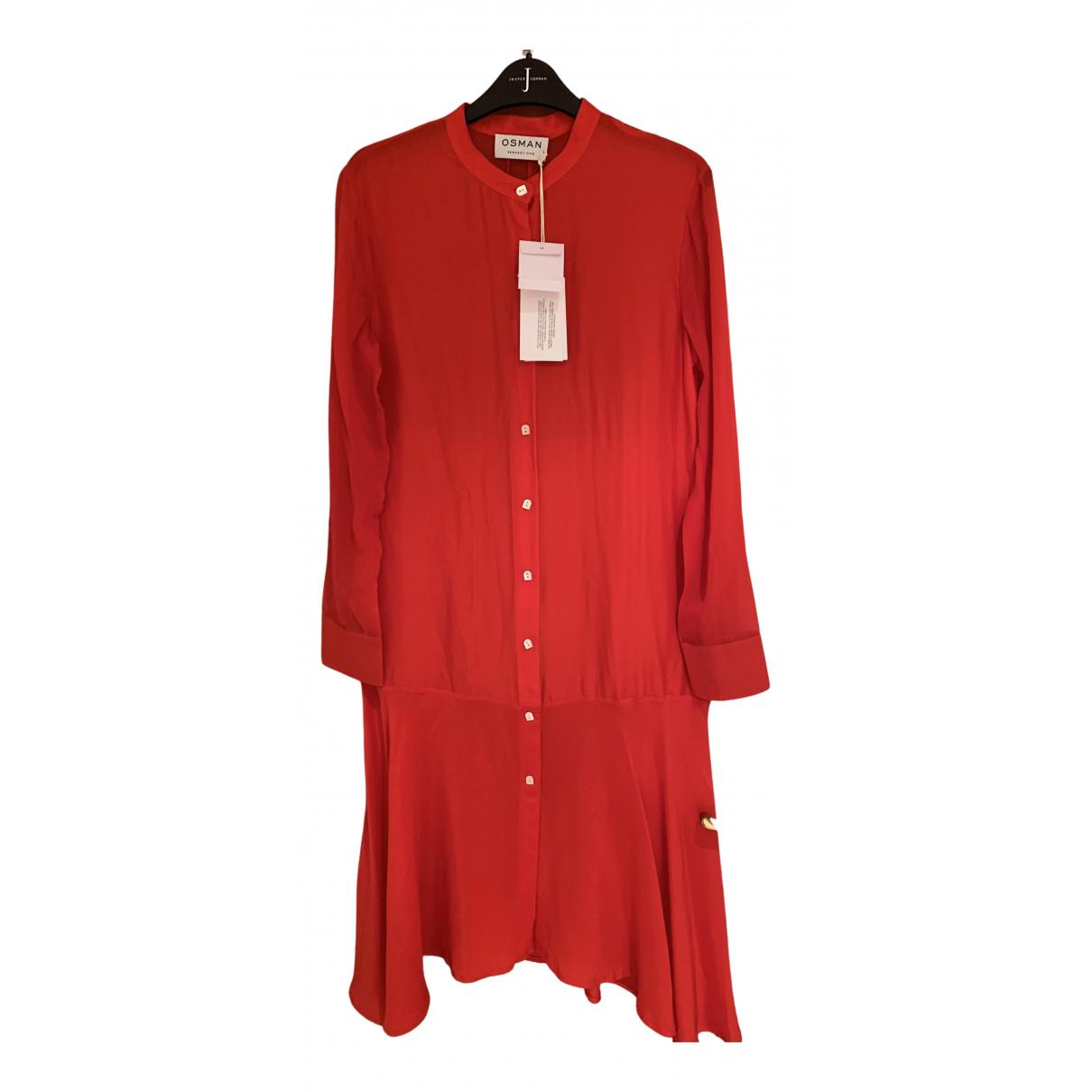 Vestido midi de Seda Osman London
