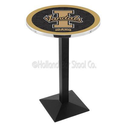 L217B42IdahoU 42 Black Wrinkle Idaho Logo Pub