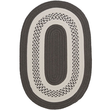 Colonial Mills Lighthouse Reversible Braided Indoor/Outdoor Oval Rug, One Size , Gray