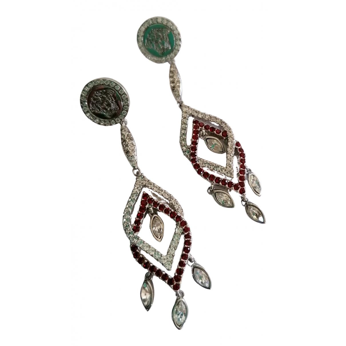 Versace - Boucles d'oreilles Medusa pour femme en metal - argente