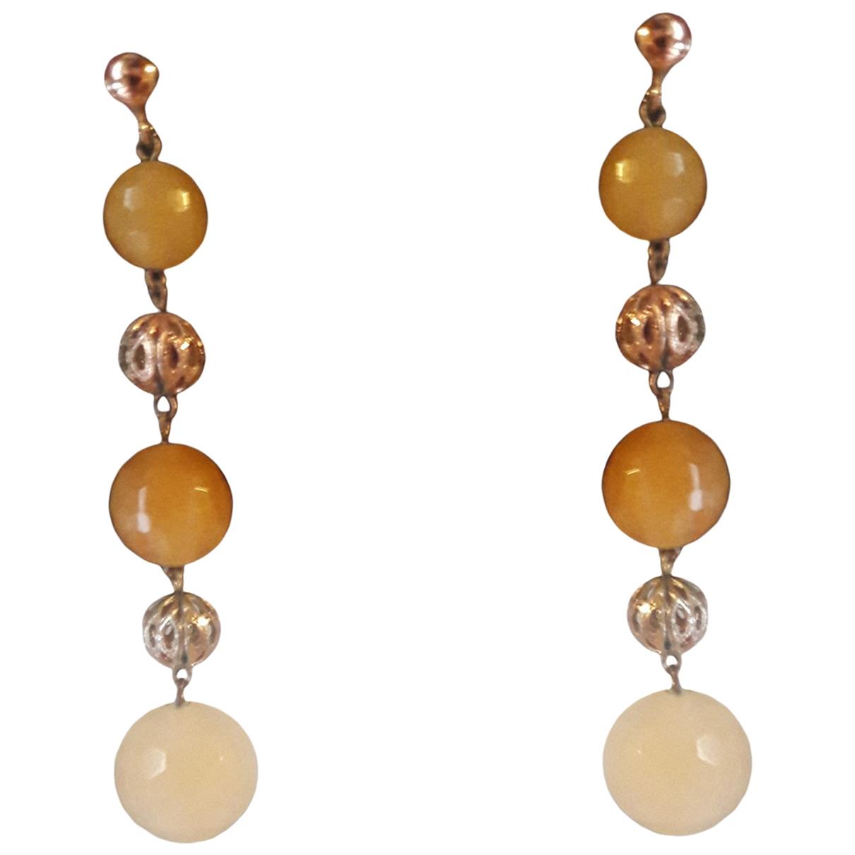 - Boucles doreilles   pour femme en or rose - jaune