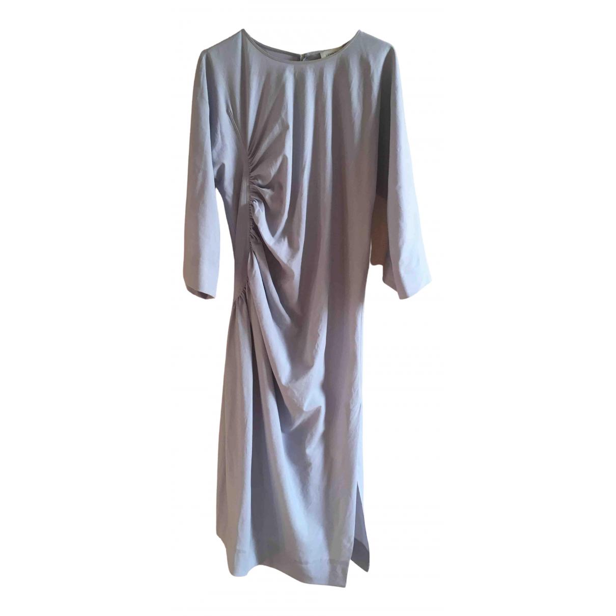 Lemaire \N Blue Linen dress for Women 36 FR