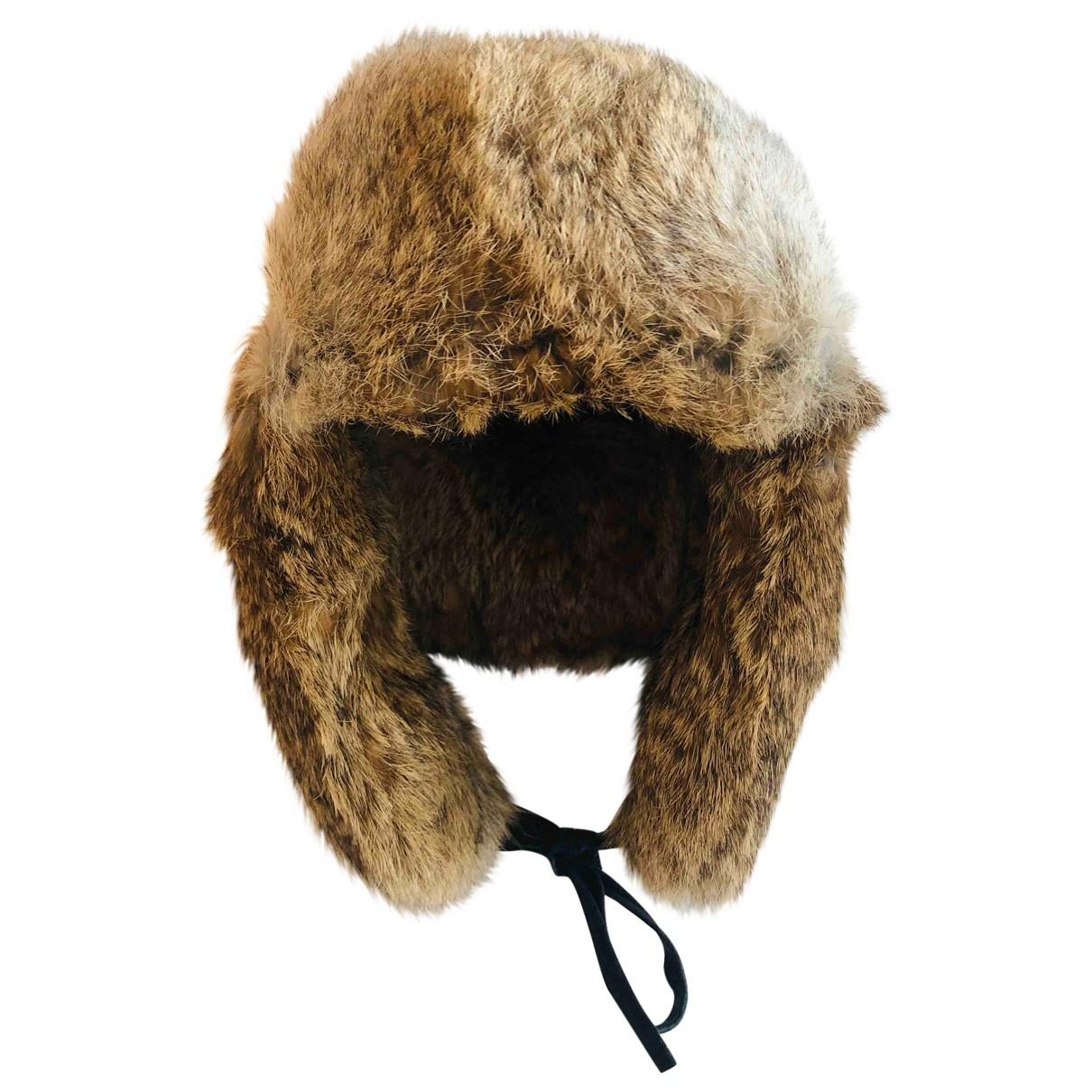 Hallhuber - Chapeau   pour femme en lapin - marron