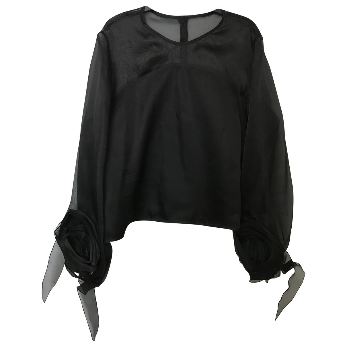 Anne Fontaine - Top   pour femme en soie - noir