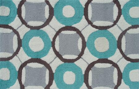 PA0096D 5 x 7 ft. Rounders Area Rug  in