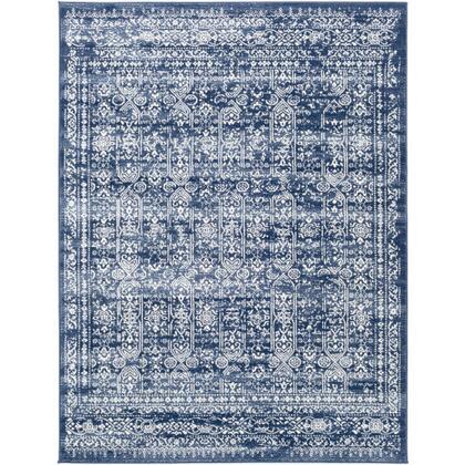 Roma ROM-2310 9 x 123 Rectangle Traditional Rug in Dark Blue  Denim