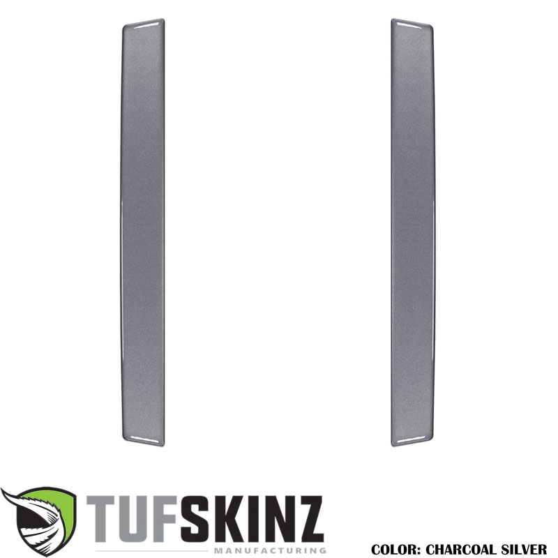 Tufskinz RUN021-CLG-G Rear Door Sills Fits 14-up Toyota 4Runner 2 Piece Kit Charcoal Silver Similar to Magnetic Gray