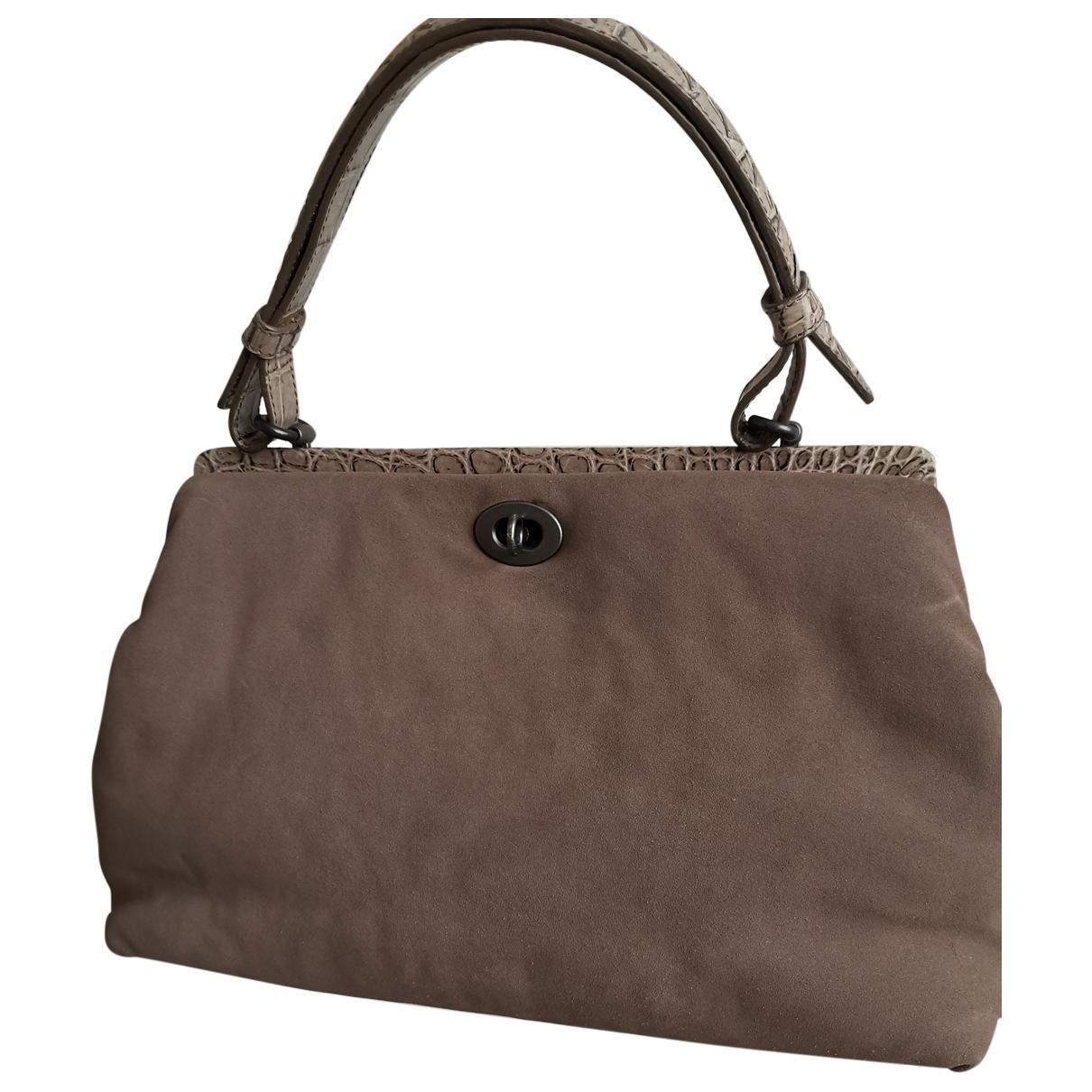 Bottega Veneta \N Handtasche in  Grau Veloursleder