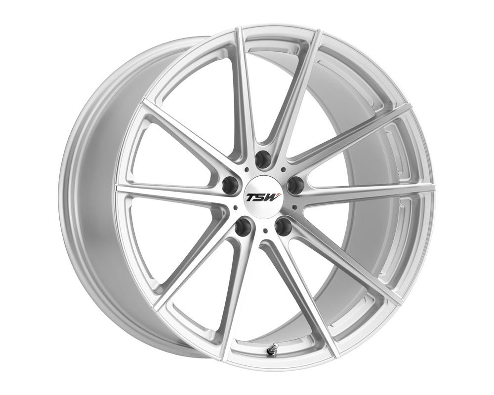 TSW Bathurst Wheel 21x10.5 5x112 32mm Silver w/ Mirror Cut Face