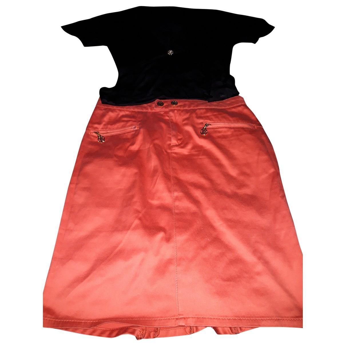Roberto Cavalli \N Kleid in  Schwarz Baumwolle - Elasthan