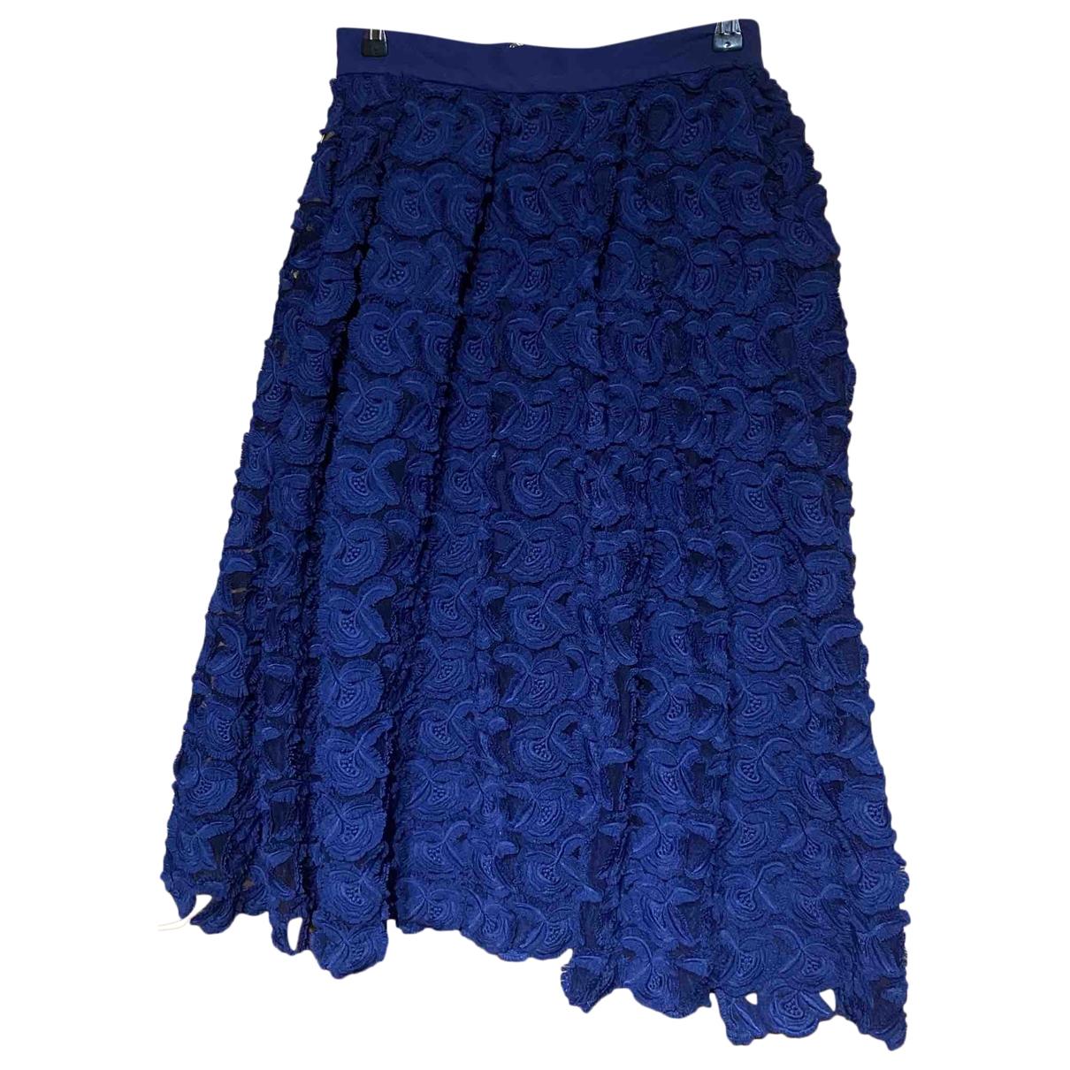 Maje - Jupe   pour femme - bleu