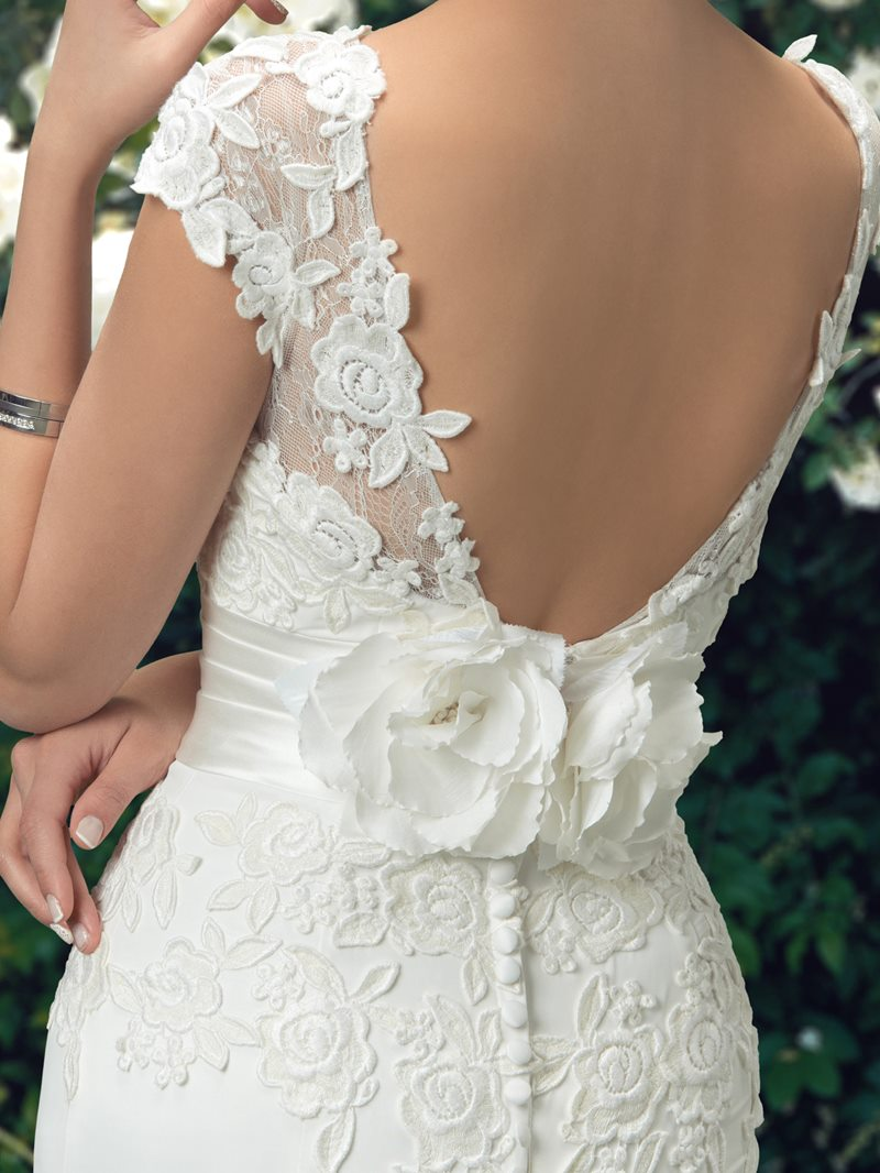 Ericdress Cap Sleeve Appliques Mermaid Wedding Dress