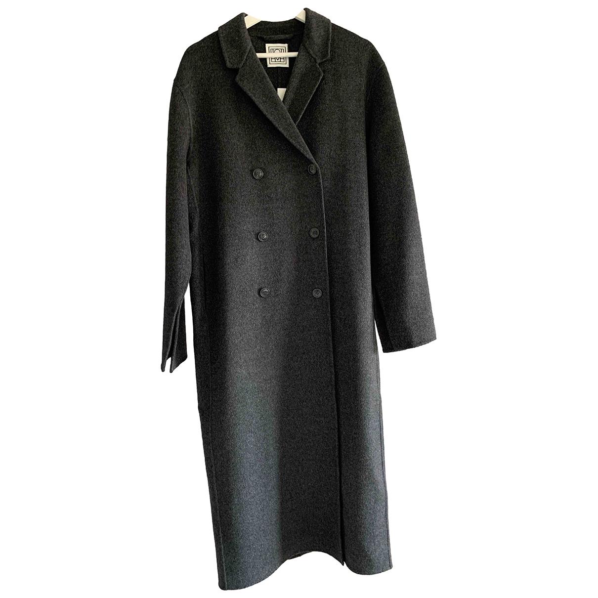 Toteme - Manteau   pour femme en laine - gris