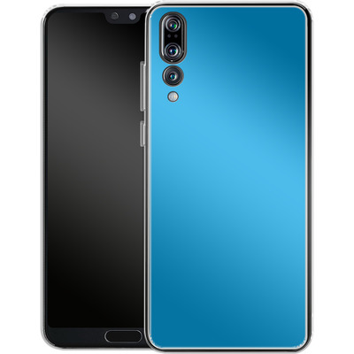Huawei P20 Pro Silikon Handyhuelle - Test Cyan von caseable Designs