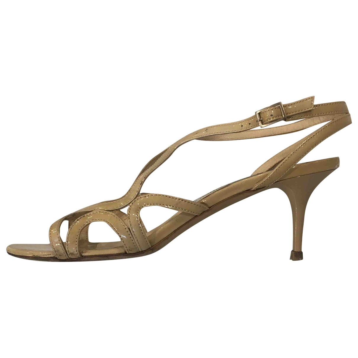 Jimmy Choo \N Beige Patent leather Sandals for Women 38.5 EU
