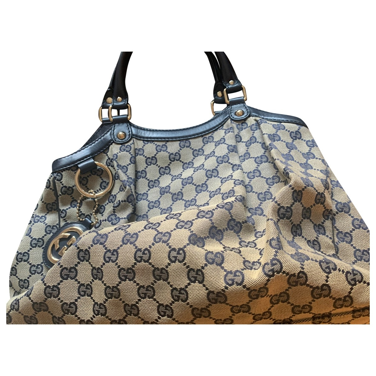 Gucci Sukey Blue Patent leather handbag for Women \N