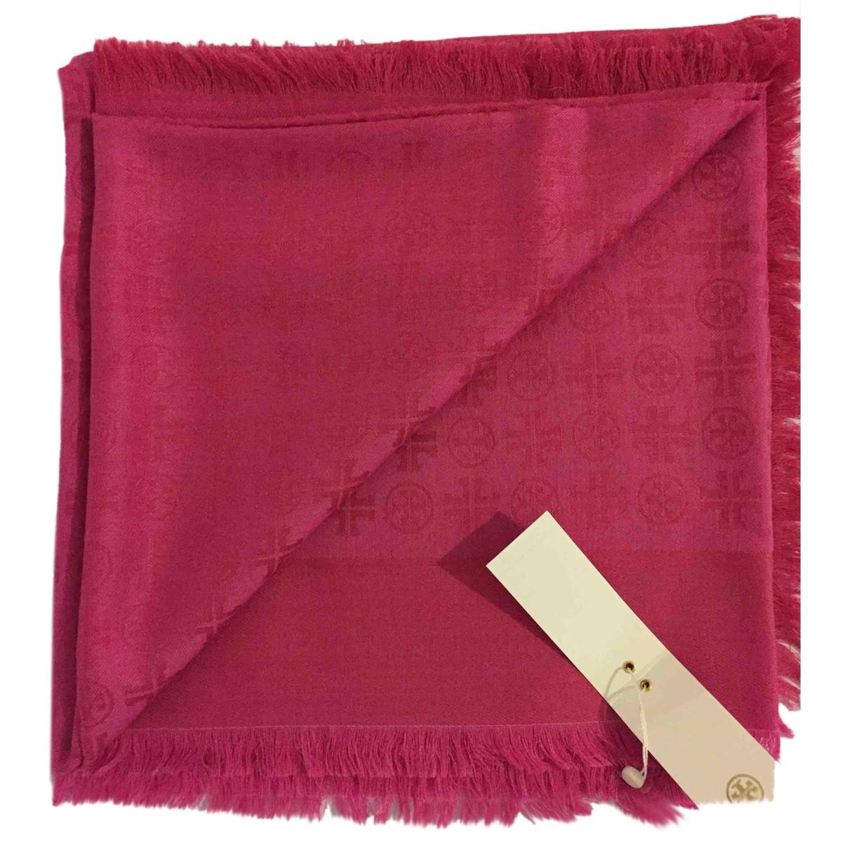 Tory Burch - Foulard   pour femme en laine - rose