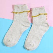Cuffed Frill Trim Socks
