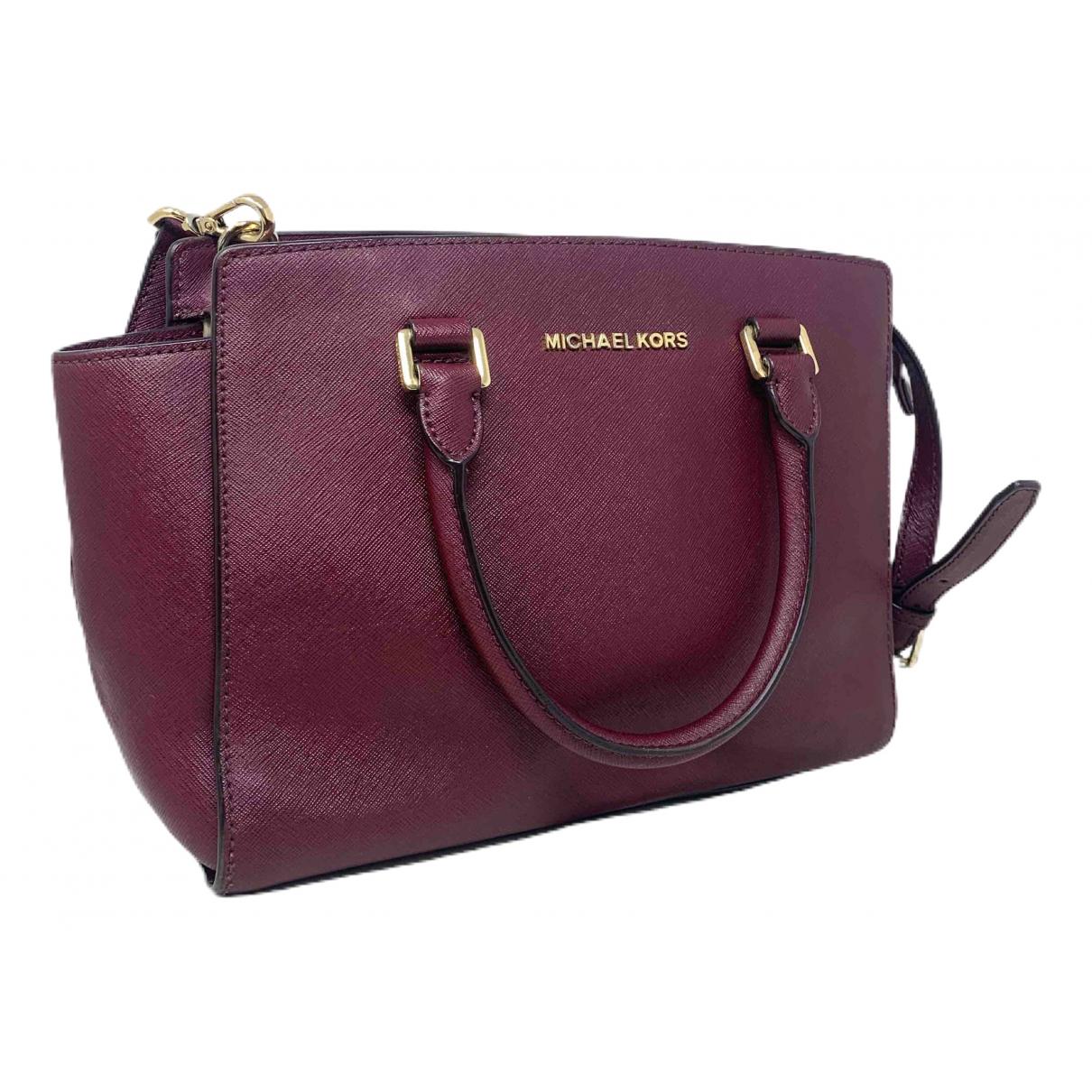 Michael Kors Selma Purple Leather handbag for Women \N