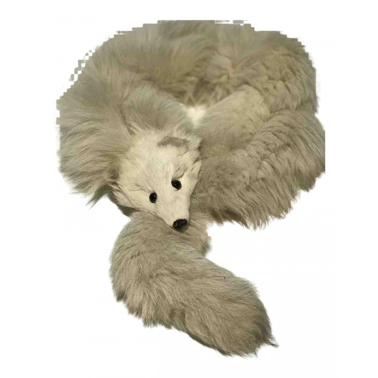 - Foulard   pour femme en renard - blanc