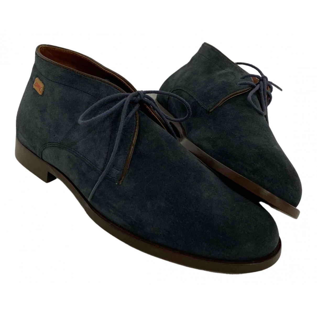 Camper - Bottes.Boots   pour homme en suede - bleu