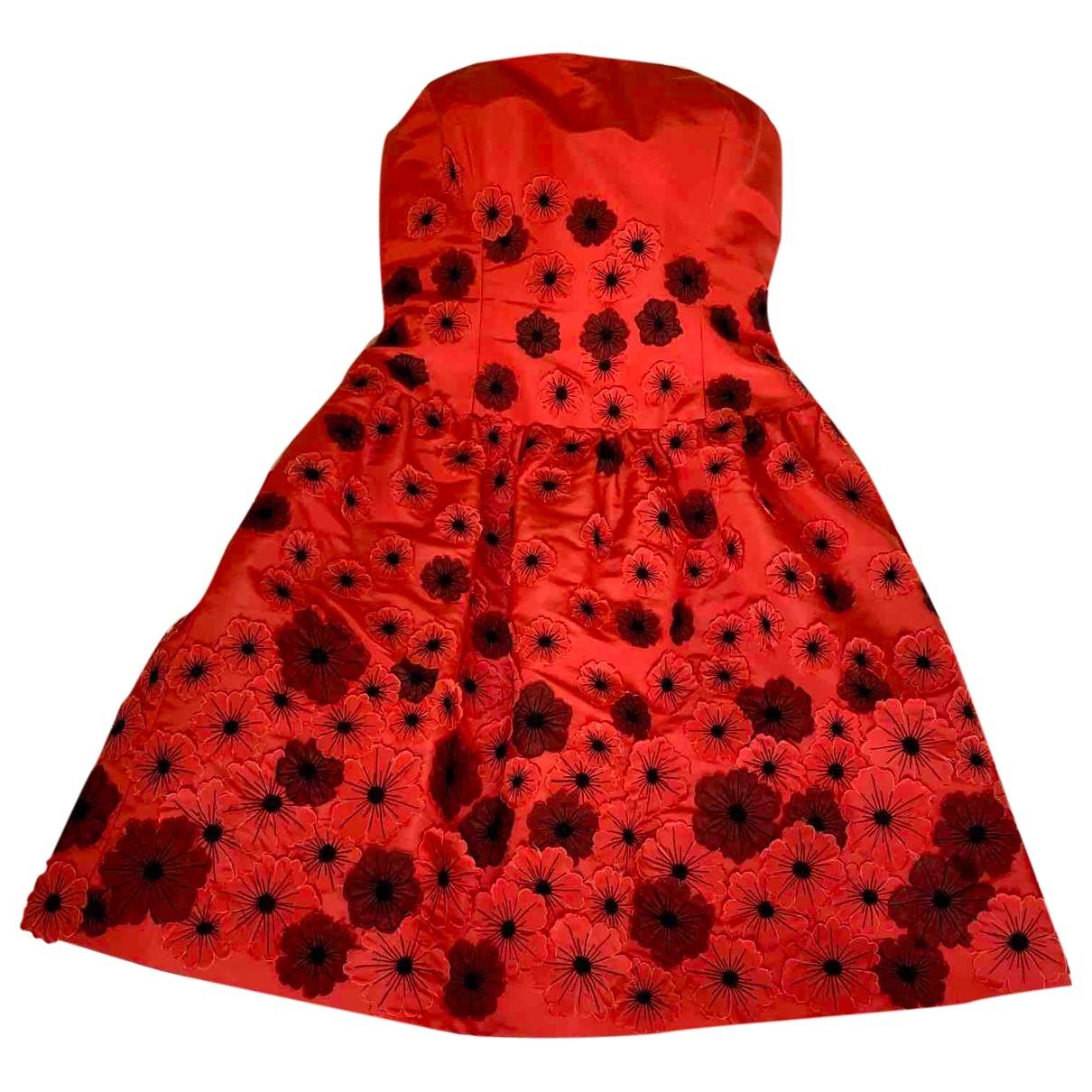 Oscar De La Renta - Robe   pour femme en soie - rouge